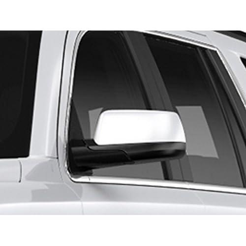 2015-2019 CADILLAC ESCALADE Top Chrome Mirror Covers Overlay w//o side camera