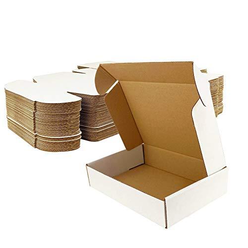 Giftgarden Scatole di Cartone Imballaggio Piatte 25 Pezzi 229x153x51 MM A5 Scatole per spedizione o Lo stoccaggio Bianca