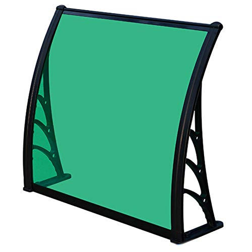 GuoWei Door Window Awning Canopy, Outdoor Front Door Patio Rain Cover, Patio Porch Outdoor Rain and Snow Shelter, Customizable Size (Color : Green, Size : 60x120cm)