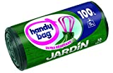 Handy Bag 1 Rouleau de 10 Sacs Poubelle 100 L, Pour le Jardin, Poignées Coulissantes, Ultra Résistant,...
