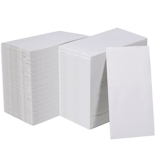 [600 Pack]Vplus Paper Napkins Guest Towels Disposable Premium Quality 3-ply Dinner Napkins Disposable Soft, Absorbent, Party Napkins Wedding Napkins for Kitchen, Parties, Dinners or Events(white)