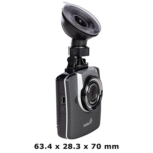 Ivation Dash Cam G19, 1296p HD Video & GPS Recorder, 155° Wide Angle Lens, Motion Detection, G-Sensor, 6-Glass Lens, Low Light WDR & HDR Dashcam, Best Car Camera
