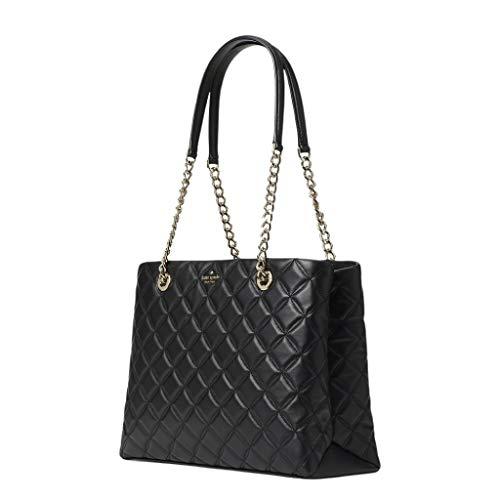 Kate Spade Natalia Tote Bag Women's Leather Large Handbag (Black)