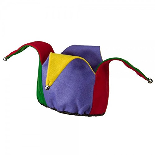 Jacobson Hat Company Colorful Felt Jester Hat,Multi-Colored,One Size