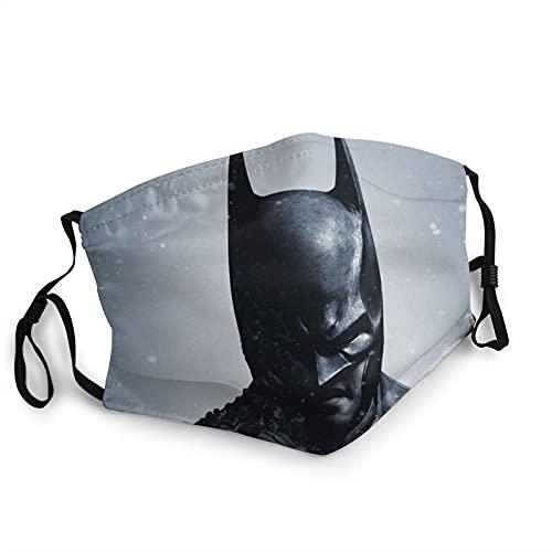 ZVEZVI Batman Arkham Origins Cubierta Facial Protectora contra el Polvo con Gancho Ajustable,mascarilla Facial Reutilizable Lavable a Prueba de Viento de Invierno para Adultos