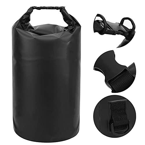 SHYEKYO Bolsa de Almacenamiento de Saco seco, Conveniente Impermeable 3 en 1 Bolsa de Kayak para canotaje para Exteriores(TS83900299-Silver Label on Black Background)