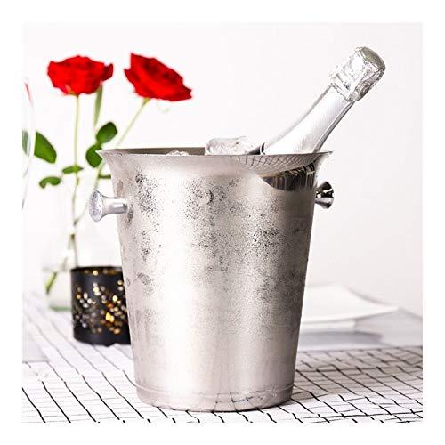 Cuenco de hielo de acero inoxidable - Refrigerador de champán de metal - 2 / 5L Capacidad grande - Adecuado para bodas, Entretenimiento de vacaciones, Suministros de Patio de Verano GAONAN