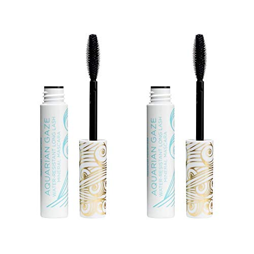 Pacifica Aquarian Gaze Water Resistant Long Lash Mineral Mascara Abyss, 2Count
