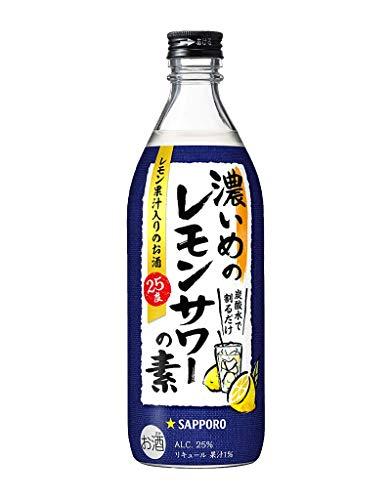 濃いめのレモンサワーの素 [ 濃縮カクテル 500ml ]