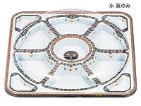オードブル角丸455透明フタ(フタのみ)(10枚)