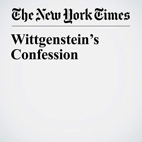 Wittgenstein's Confession copertina