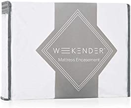 WEEKENDER Waterproof Mattress Encasement with Zipper Closure - Hypoallergenic Protector Helps Block Bed Bugs - Queen