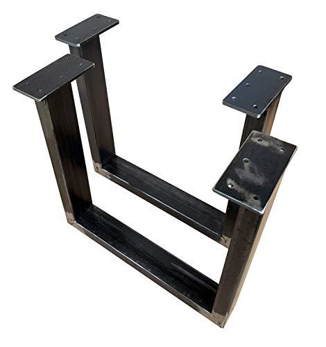 CHYRKA® Tischkufe 1 Paar (2 Stück) SWIRZ Kufengestell Tischgestell 300-400-720-60x30 Rahmentisch Tischuntergestell (Höhe - 400 mm, Länge - 400 mm)