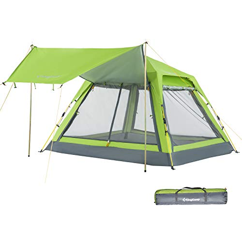 KingCamp Double Layer Waterproof Backpacking Square Top Tent, for Outdoor Camping Beach Hiking