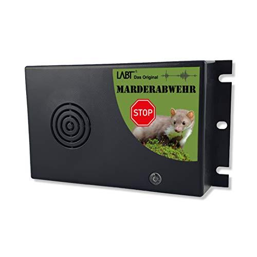 LABT Marderschreck mobil einsetzbar - Ultraschall Marderabwehr - einfache Montage Batteriebetrieben mit Wechselfrequenz - auch als Marderschutz für´s Auto geeignet