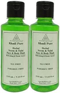 Khadi Pure Herbal Neem & Tulsi Face And Body Wash Sls-Paraben Free - 210 ml (Set Of 2)