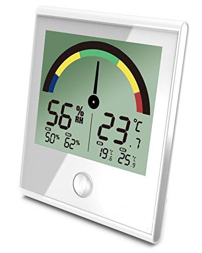 Koch Farbscala elektronisches Hygrometer/Thermometer, Weiß, 10x10x3