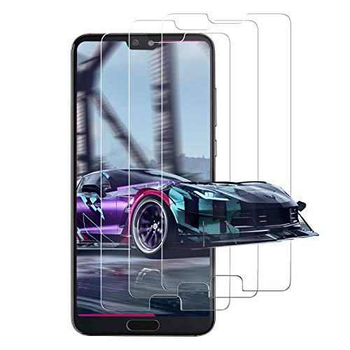 [Lot de 3] Verre Trempé pour Huawei P20 Pro, Film Protection Ecran, [2.5D Bord] Dureté 9H, Sans Bulles, Anti-Rayures, Ultra Transparent, Protection D'écran - Transparent