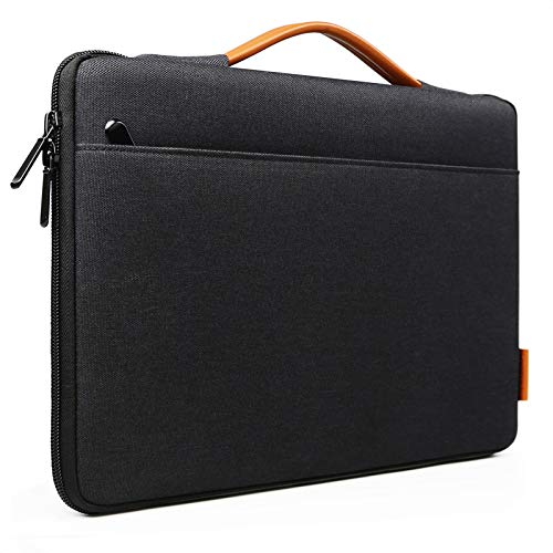 Inateck 12.3-13 Inch Laptop Sleeve Case Compatible with Surface Pro X/7/6/5/4/3, MacBook Pro 2018-2020, MacBook Air 2020/2018, MacBook 13 M1, Surface Laptop Go 12.4, iPad Pro 12.9 2020 - Black
