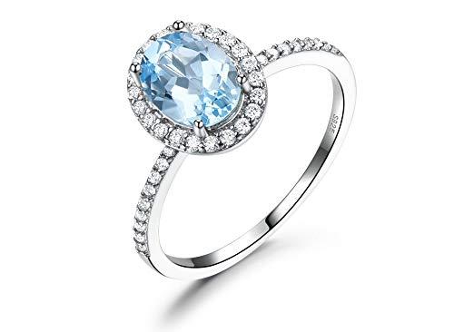 Blauwe edelsteen ringen vrouwelijke echte 925 sterling zilveren ringen ovale betrokkenheid juwelen luxe romantisch cadeau