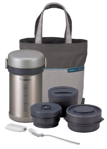 Zojirushi ZONCE09ST Stainless Ms. Bento Steel Vacuum Lunch Jar, 28.5-Ounce