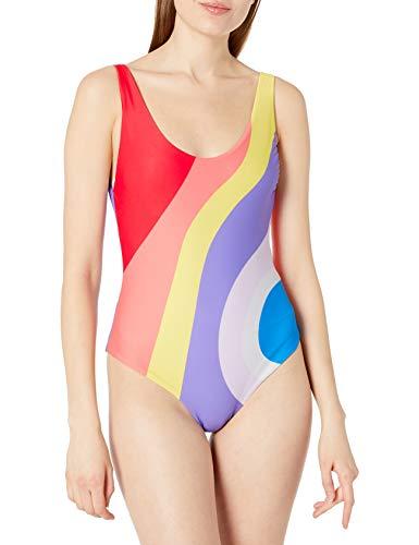 Mara Hoffman Women's Mia One Piece Swimsuit, Juniper Rainbow/Multi, Medium