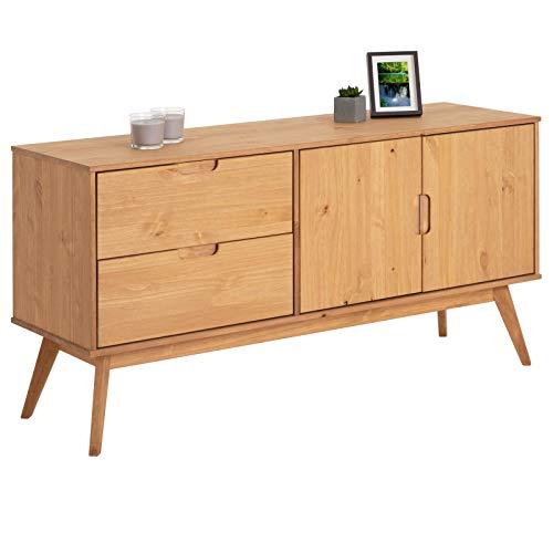 IDIMEX Buffet Tivoli Style scandinave Design Vintage Nordique Commode bahut vaisselier avec 2 tiroirs et 2 Portes...