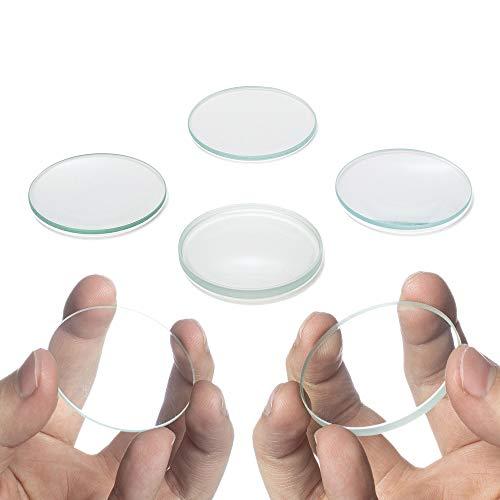 Amlong Crystal Premium Optical Glass Double Convex and Concave Lens Set, 50mm Diameter, 3 Double Convex (20, 30, 50cm FL) and 3 Double Concave (20, 30, 50cm FL), 6 Piece Set
