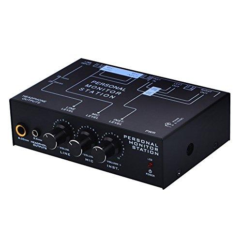 Harwls 3-kanaals Personal Amplified Stereo Listener Hoofdtelefoon Listening Mixer