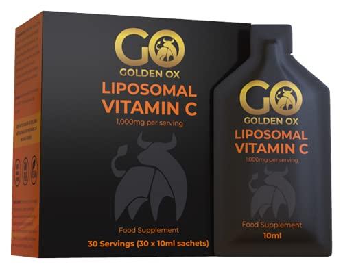 Liposomal Vitamin C 1000mg - Golden Ox - 30 Sachets, 30 Day Supply