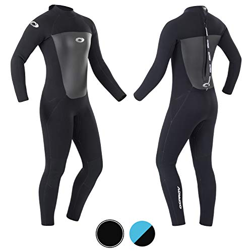 Osprey dames Origin neopreenpak 5 mm lang winter wetsuit en surfpak, zwart