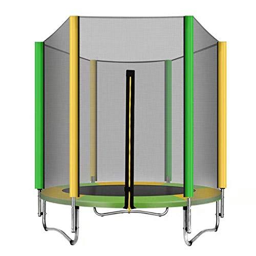 1.5M Runde Kinder Erwachsene Mini-Trampolin Enclosure Net Pad Rebounder Außen Übung Startseite Spielzeug Springen Bett Max Last 200KG