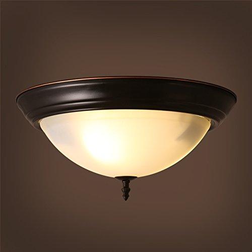 SDKKY American retro LED plafonnier avec entrée européenne étude couloir salle de bain balcon allée éclairage 380 * 160mm