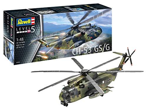 Revell RV03856 3856 CH-53 GSG originalgetreuer Modellbausatz für Experten, unlackiert