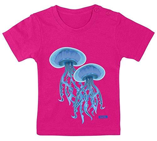 HARIZ Baby T-Shirt Quallen Wasser Süß Tiere Dschungel Plus Geschenkkarten Einhorn Fuchsia 15-24 Monate / 80-92cm