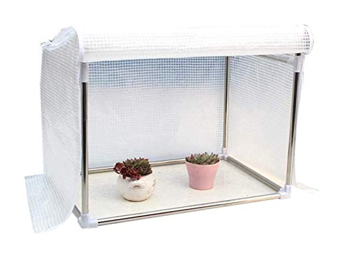 Mini Greenhouse Protected Plant Grow House, Anti-UV Small Garden Shed, Small Portable Gardening Plant Cover Garden Flower Shelter (Size : 90x50x60cm)