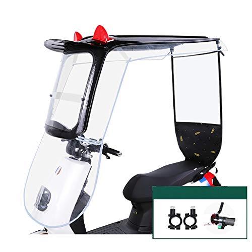 QYQYMJ Cubierta Impermeable Y A Prueba De Lluvia para Scooter, Capota De Motocicleta, Adecuada para Vehículos Eléctricos Sin Espejo Retrovisor (Color : B)