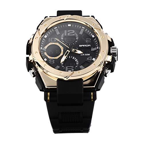 UKCOCO Reloj de Pulsera Multifuncional para Deportes Al Aire Libre Reloj Luminoso Impermeable