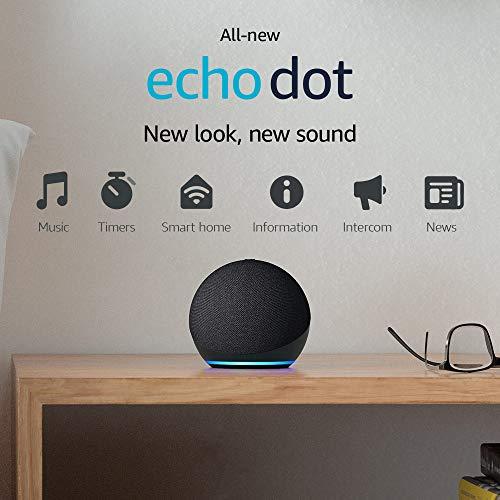 All-new Echo Dot (4th Gen) | Smart speaker with Alexa | Charcoal