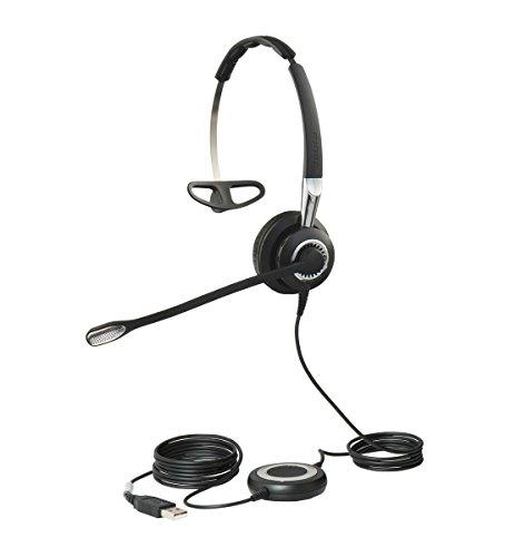Jabra Biz 2400 II Mono USB leichtes Profi-Kabel-Headset, Bedieneinheit mit Bluetooth-Chip, Skype for Business optimiert, NC, 3-in-1-Design