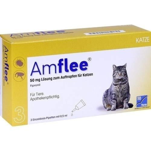 AMFLEE 50 mg Lösung zum Auftropfen f.Katzen 3 St