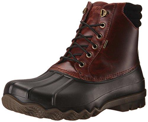 Sperry Top-Sider Men's Avenue Duck Boot, Black/Amaretto, 10