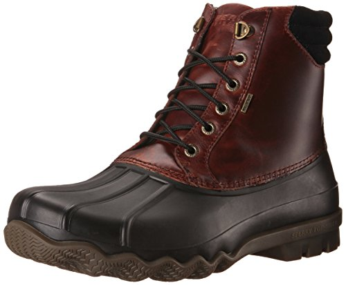 Sperry Mens Avenue Duck Boots, Black/Amaretto, 9.5