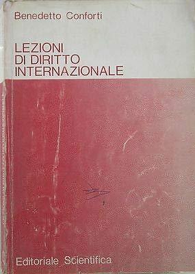 V1756 LIBRO LEZIONI DI DIRITTO INTERNAZIONALE DI BENEDETTO CONFORTI 2a EDIZIO...