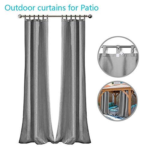 GDMING Cortinas Exterior Porche Impermeable Conjunto De 2 Sombras Opacas Tapa Superior Toldo para Jardín Entrada Villa con Vista Al Mar Porche Lavable, 32 Tamaños (Color : Gray, Size : 4x2.5m)