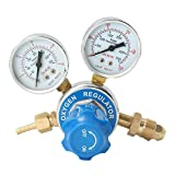 Topker Reductor de presión de oxígeno latón Dual Indicador de presión del regulador de Soldadura y Corte Medidor de Gas Reductor de Flujo Guage Herramientas