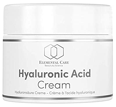INTRODUCTORY OFFER Hyaluronic Acid Face Cream Vegan - 50ml Opal Glass Jar - Total Age Repair Night + Eye Cream - Anti-Aging Skin Care Made in Germany - Moisturiser for Women with Aloe Vera + Vitamin E
