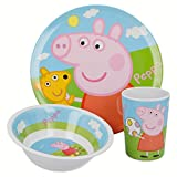 Bbs 123175 - Peppa Pig Mealtime Set, 3 Pezzi in Melammina