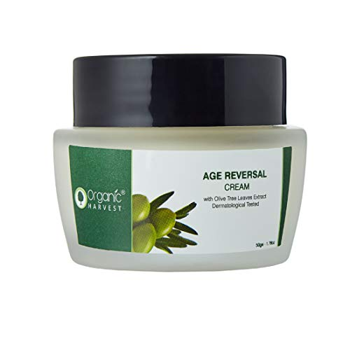 Organic Harvest Age Reversal Cream, Delays Signs of Ageing, Reduces Fine Lines & Wrinkles, Boost Skin Elasticity, ECOCERT & PeTA Certified, 100% Organic, Paraben & Sulphate Free - 50gm