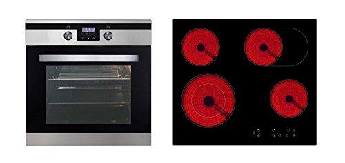 respekta CERAN Horno Cocina Set XXL Horno vitrocerámica hobs 8funciones, 80L
